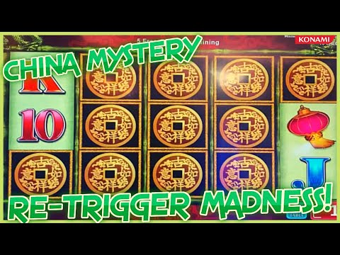 OVER 100 FREE GAMES AMAZING RE-TRIGGER ON CHINA MYSTERY SLOT MACHNE MAX BET NICE WIN!