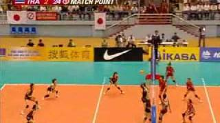 Thailand - Japan 2009 Asia Women Volleyball ChanmpionShip Semifinal Part 22