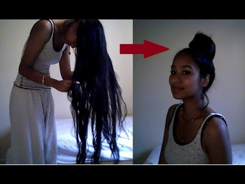 knee length - Hey guys, this video is just a quick demonstration to show how easy it is to put all of your hair up in a easy and stylish high bun. Hope you enjoy and subsc...