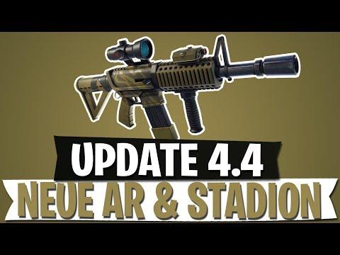 update 4 4 infrarot sturmgewehr neuer ort stadion fortnite battle royale deutsch - fortnite sturmgewehr mit zielfernrohr