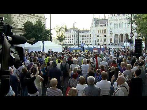 Αντικυβερνητική διαδήλωση στη Βουδαπέστη