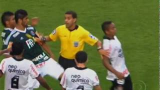 Corinthians x Palmeiras (Briga no Final do Jogo)