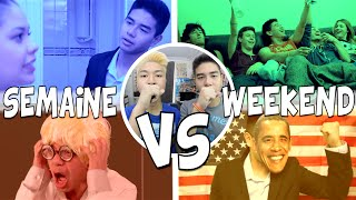 Video SEMAINE VS WEEKEND - LE RIRE JAUNE MP3, 3GP, MP4, WEBM, AVI, FLV Agustus 2017