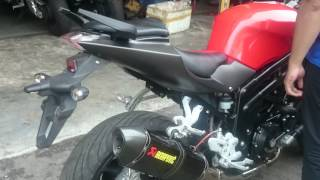 5. NAZA BLADE 650 R Akrapovic Exhaust - Hyosung gt650r - original akra slip on exhaust - custom