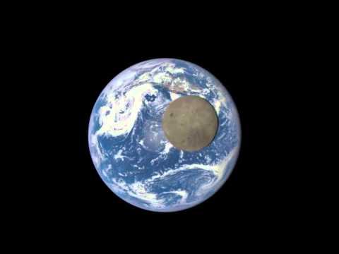 Смотреть онлайн: Аппарат NASA снял полет Луны перед Землей