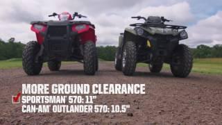 7. 2017 Polaris Sportsman Shootout: Polaris Sportsman 570 vs. Can-Am Outlander L 570