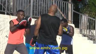 It's not very often you hear or see a Police Officer doing what he enjoys in his spare time. Working at the Boroko Police Station in Port Moresby as a police officer, Raymond Hompi was spotted training with a bunch of pro-boxers.As Raymond explains his love for boxing, he says individuals should try take up boxing, pointing out, it's a hobby that can be turned into a self-defense element when one finds themselves in danger. visit us at http://www.emtv.com.pg/ for the latest news...
