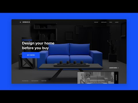 Adobe XD & Adobe Dimension Web Design - Speed Art