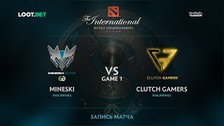 Mineski vs Clutch Gamers, Game 1, The International 2017 SEA Qualifier