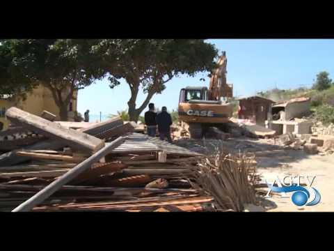 Licata, continuano le demolizioni degli immobili costruiti abusivamente