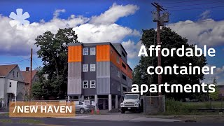 """Video Stacked cargo containers in New Haven's """"LEGO"""" apartments MP3, 3GP, MP4, WEBM, AVI, FLV Juli 2019"""