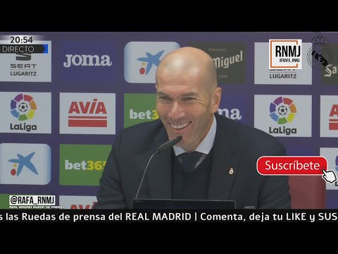 Rueda de prensa de ZIDANE post Eibar 0-4 Real Madrid Jornada 13 (09/11/2019)