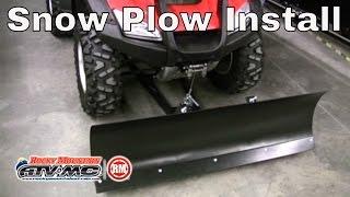 Tusk SubZero ATV Snow Plow Installation
