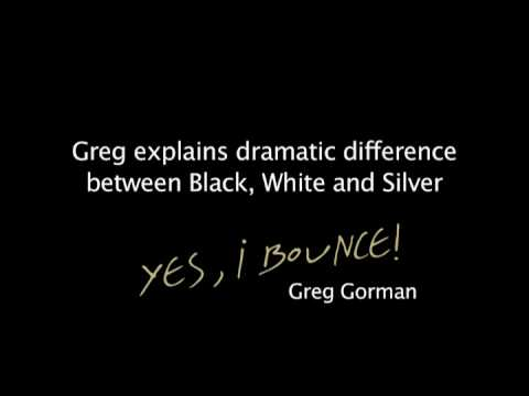 'I bounce' photo lesson 3: Greg Gorman - black white or silver, I have them all