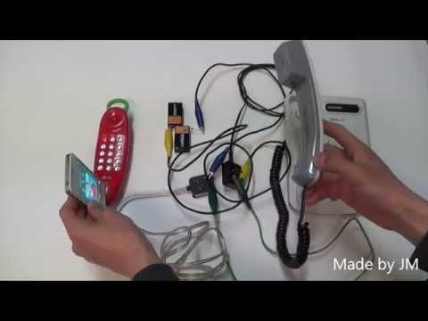Makeshift intercom system using two telephones