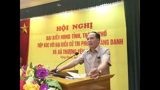 Đại biểu HĐND Tỉnh, thành phố tiếp xúc cử tri phường Vàng Danh, xã Thượng Yên Công