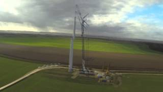Wind Turbine Lift - Time Lapse