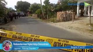 Penyidik Lakukan Rekontruksi Pembunuhan Anak Pejabat Abdya