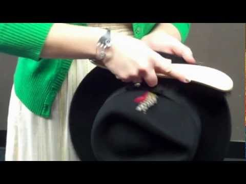 This video teaches you the proper method for cleaning your felt hats using a hat brush.