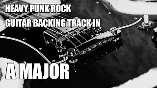 Download Lagu Heavy Punk Rock Guitar Backing Track In A Major Mp3