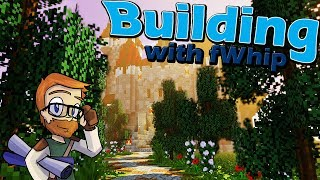 Building with fWhip :: Landscaping the castle exterior :: #66 Minecraft 1.12 Single Player Survival