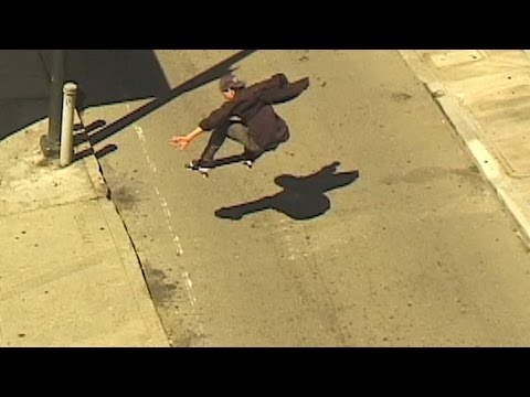 Skateboarder Bombing Hills In San Francisco