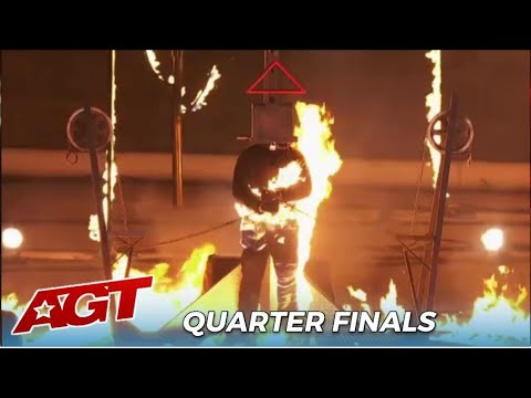 Act Gone Wrong? Man Catches FIRE On LIVE TV During Dangerous STUNT! Jonathan Goodwin