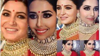Download Lagu Anushka sharma wedding reception look step by step in HINDI|अनुष्का शर्मा वेडिंग मेकप लूक|virushka Mp3