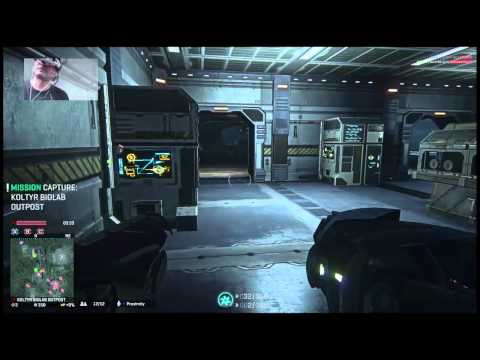 PlanetSide 2 PS4 Beta 2 ST1080 HMD Zeiss Head Tracking : pt 1