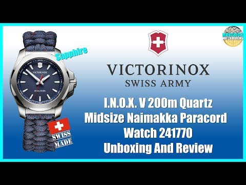 , title : 'Tough As Nails! | Victorinox I.N.O.X. V 200m Quartz Midsize Paracord 241770 Unboxing And Review'