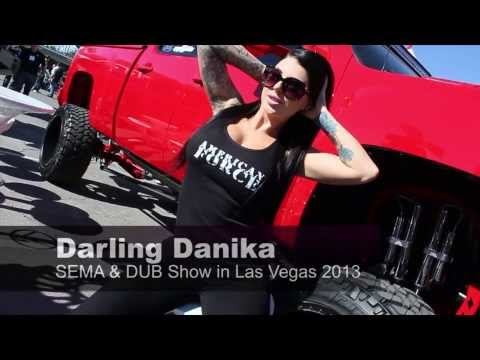 Darling Danika at SEMA & the Dub Show in Las Vegas 2013 (видео)
