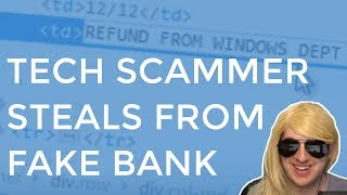 Video Tech Scammer Steals From My Fake Bank Account MP3, 3GP, MP4, WEBM, AVI, FLV Juni 2019