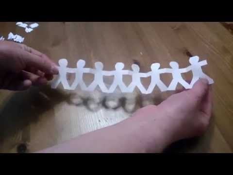 How to Make an Origami Chain of People