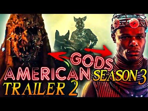 American Gods Season 3 New Trailer & Clips Breakdown + Theories! (Spoilers for Season 1+2 )