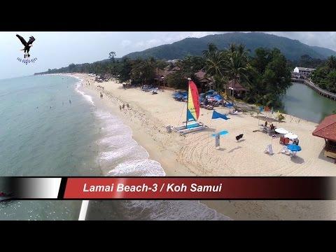 Lamai Beach-3 / Koh Samui Thailand overflown with my drone