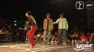 Funky Bee (Ringo Winbee & Yu-to) vs BOOZER (Nao & ペッツ) – JUSTE DEBOUT TOKYO 2020 POPPING BEST8 (Another angle)