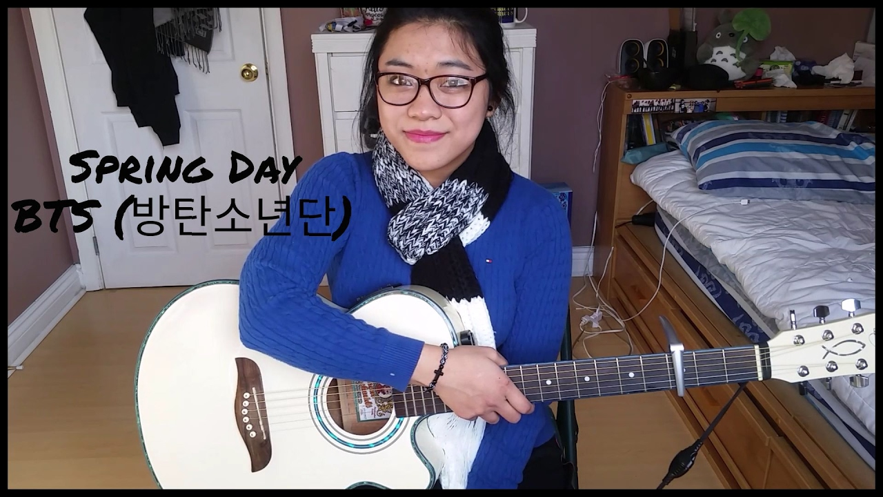 [Guitar Tutorial – Beginner] Spring Day (봄날) by BTS (방탄소년단) [기타 레슨]