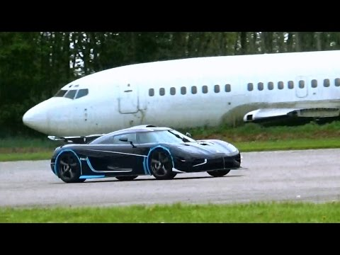 Koenigsegg One1 Top Speed Run + 225 Mph FLYBY