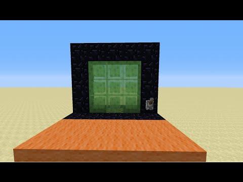 Как сделать дверь с командным блоком