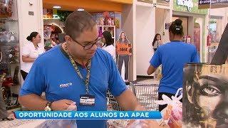 Alunos da APAE recebem capacitação e ingressam no mercado de trabalho
