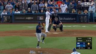 Cody Bellinger Walk-Off RBI Single vs Brewers | Dodgers vs Brewers NLCS Game 4