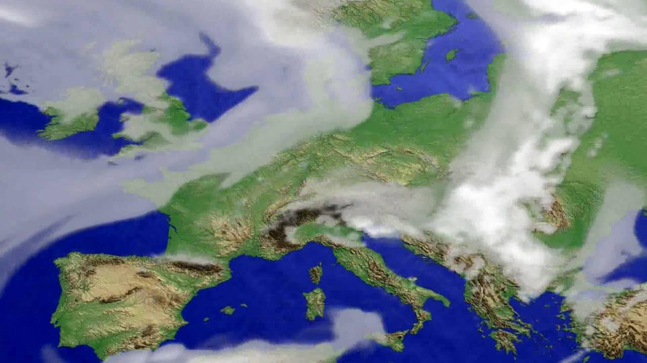 Cloud forecast Europe 2016-06-24