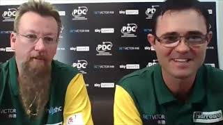 "Australia's Simon Whitlock and Damon Heta: ""This is a pairs event, why are we even playing singles?"""