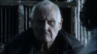HBO's Game of Thrones s1ep09 Aemon Targaryen - Maester of the night's watch - talks Jon Snow into making the biggest ...