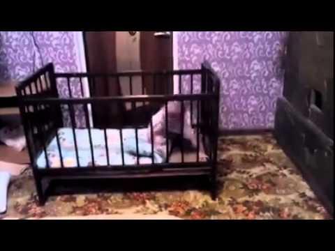 寶寶總是不在嬰兒床裡 看監視器才發現....太聰明了...