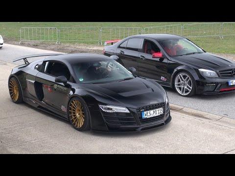Audi R8 PD GT850 vs C63 AMG Prior Design Androsch Edition