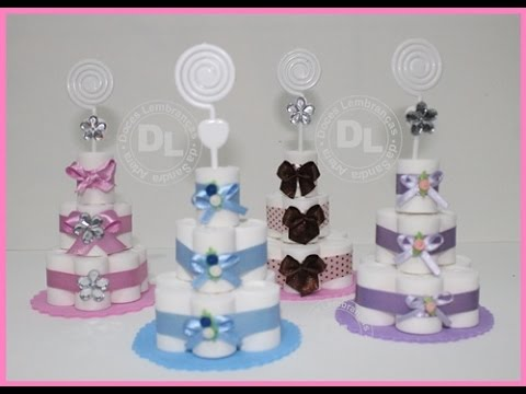 Mini bolo de fralda