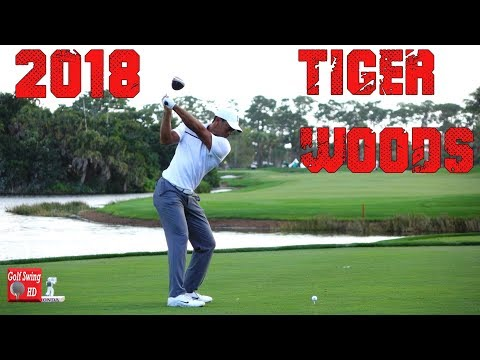 2018 TIGER WOODS 120fps DTL SLOW MOTION DRIVER GOLF SWING 1080 HD