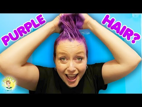 Purple Hair for Halloween!! DIY Hair Color #Halloween
