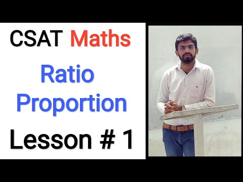 Csat (m 1): Ratio Proportion Lesson # 1 (upsc Ias Prelims Exam)